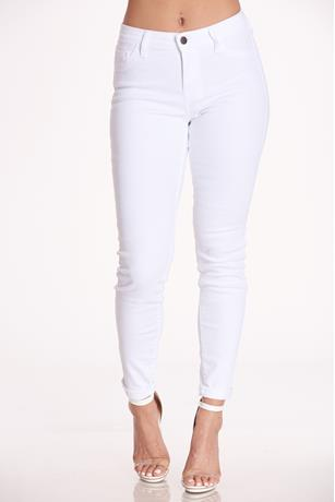 Cello White Cuff Jeans WHITE