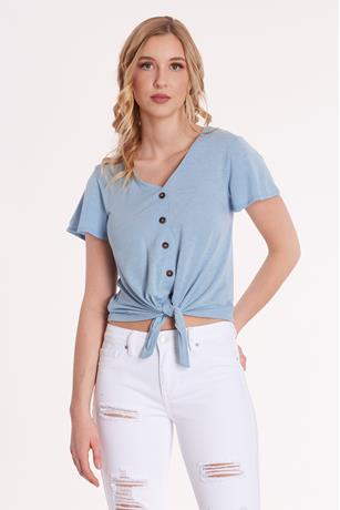 Ruffle Button-Up Top
