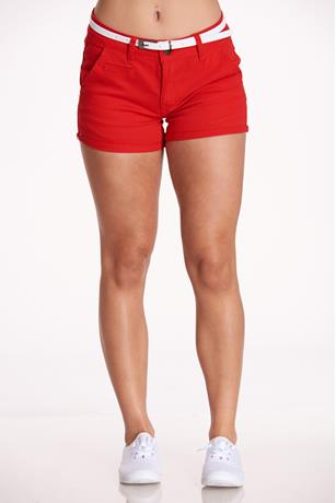 Belted Cuff Shorts
