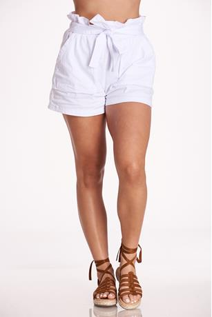 Paperbag Self-Tie Shorts WHITE