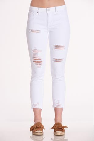 YMI White Ripped Jeans