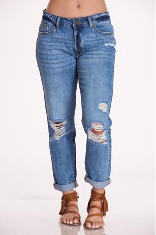 Nature Rip Knee Jeans MED WASH