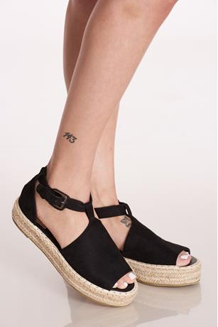 Espadrille Platform Sandals BLACK