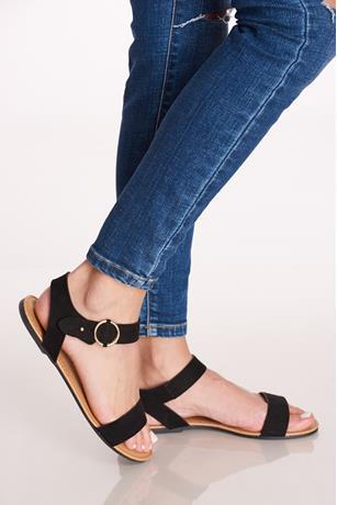 Ankle Buckle Sandals BLACK