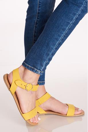 Ankle Buckle Sandals YELLOW