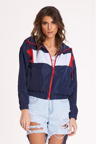 Colorblock Nylon Jacket NAVY