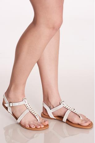 Grommet Sandals WHITE