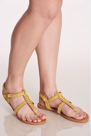 Grommet Sandals YELLOW
