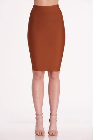 Bandage Bodycon Skirt LIGHT BROWN