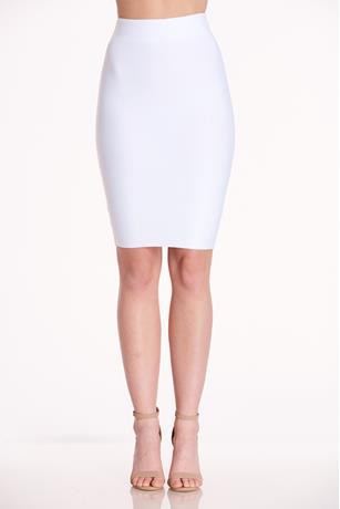 Bandage Bodycon Skirt WHITE