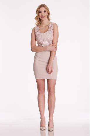 Lace Bodice Dress NUDE