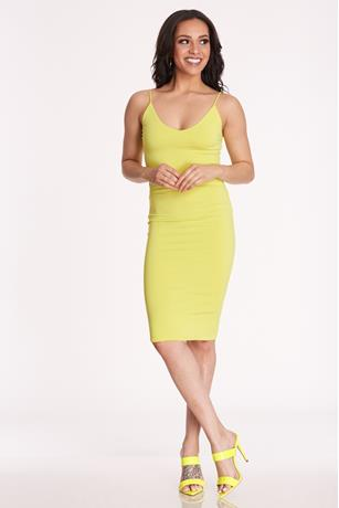 Tank Midi Dress LIME GREEN