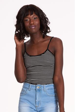 Lace-Up Crop Top BLACK