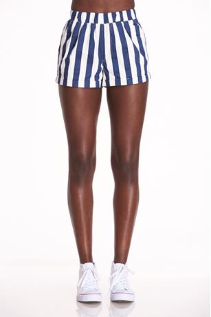 Striped Cuff Shorts NAVY