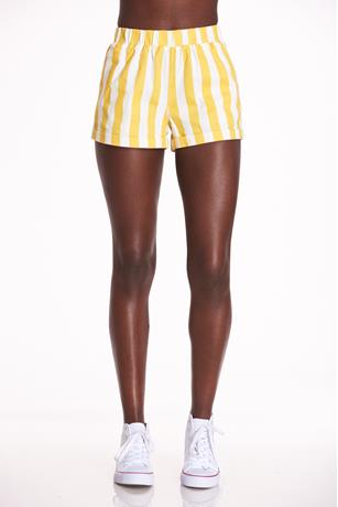 Striped Cuff Shorts YELLOW