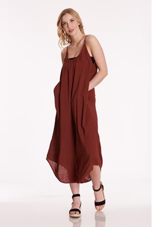 Scoop Neck Jumpsuit RED