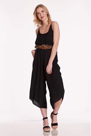 Scoop Neck Jumpsuit BLACK