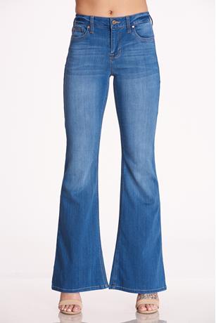 Celebrity Pink Flare Jeans MED WASH