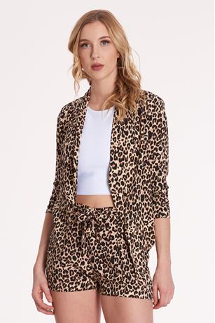 Leopard Cinch Blazer