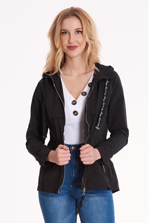 Drawstring Hooded Anorak Jacket