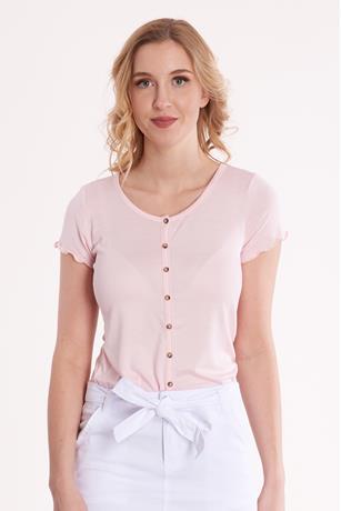 Button T-shirt LIGHT PINK