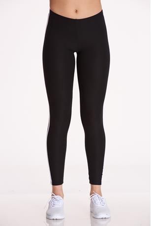Side-Striped Leggings BLACK