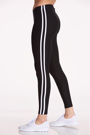 Side-Striped Leggings BLACK