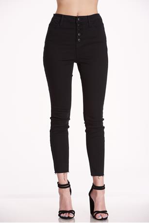 Cello Button Up Jeans BLACK