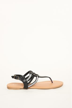 Multi Strap Braided Sandals
