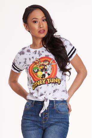 Looney Tunes Crop Top WHITE