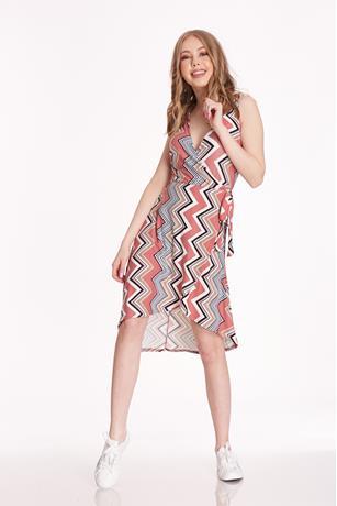 Surplice Wrap Dress PINK
