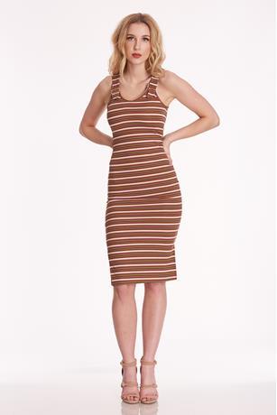 Buckle Strap Tank Dress OLIVE
