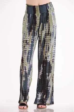 Tie-Dye Flare Pants BLACK