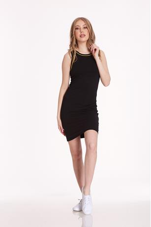 Neon Trim Dress BLACK