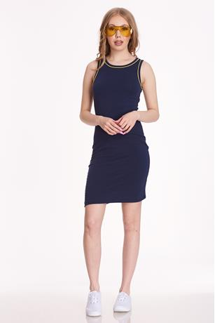 Neon Trim Dress NAVY