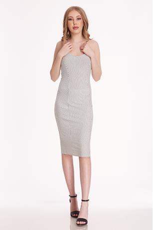 Striped Midi Tank Dress