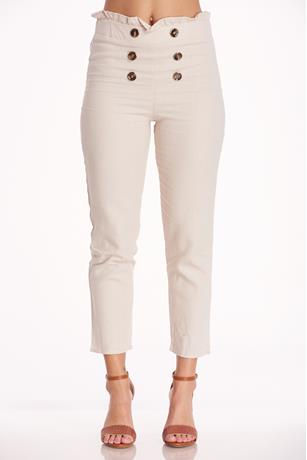 Paperbag Linen Pants NATURAL