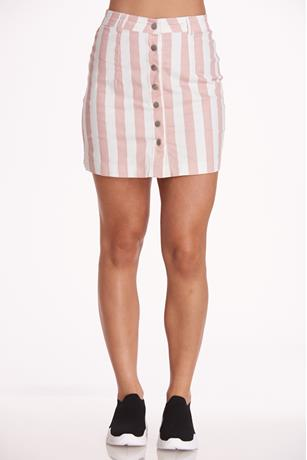 Striped Mini Skirt MAUVE