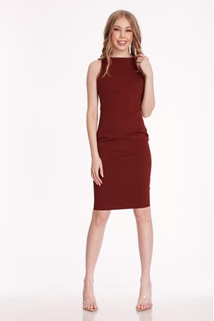 Ponte Tank Dress RED