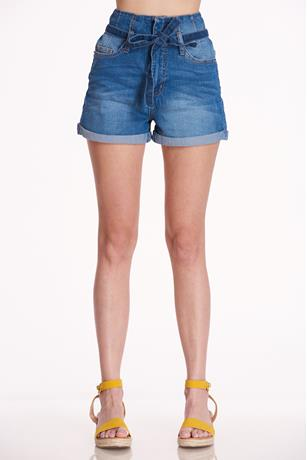 Paperbag Self-tie Shorts MED WASH