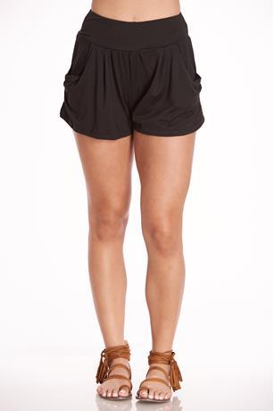 Drapey Shorts BLACK