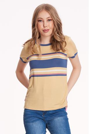 Colorblock T-Shirt GOLD