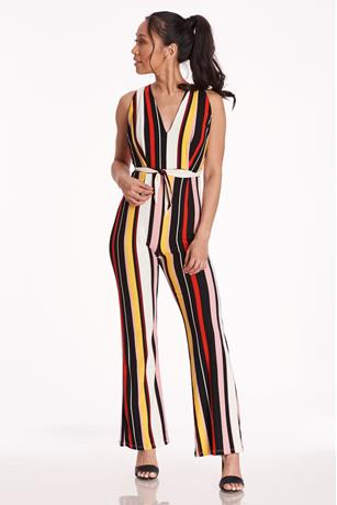 Stripe Halter Jumpsuit