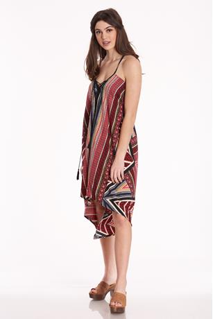 Scarf Print Dress MULTI