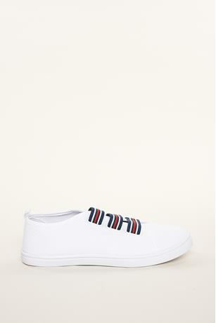 Canvas Stripe Sneakers
