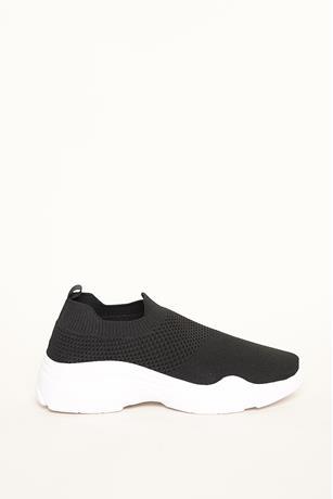 Athletic Low Top Sneakers BLACK