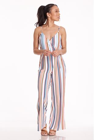 Striped Cami Jumpsuit BLUE