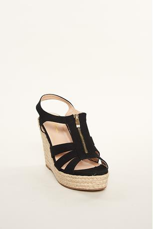 Zipper Espadrille Sandals