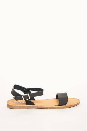 Faux Leather Strap Sandals