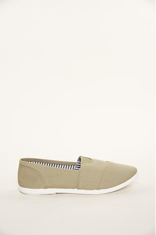 Canvas Slip-Ons OLIVE